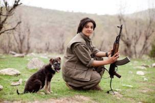 PKK-guerrillera
